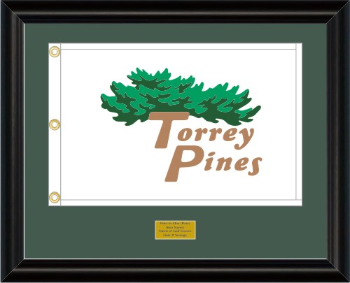 Custom Framed Golf Flags - Prestige Flag